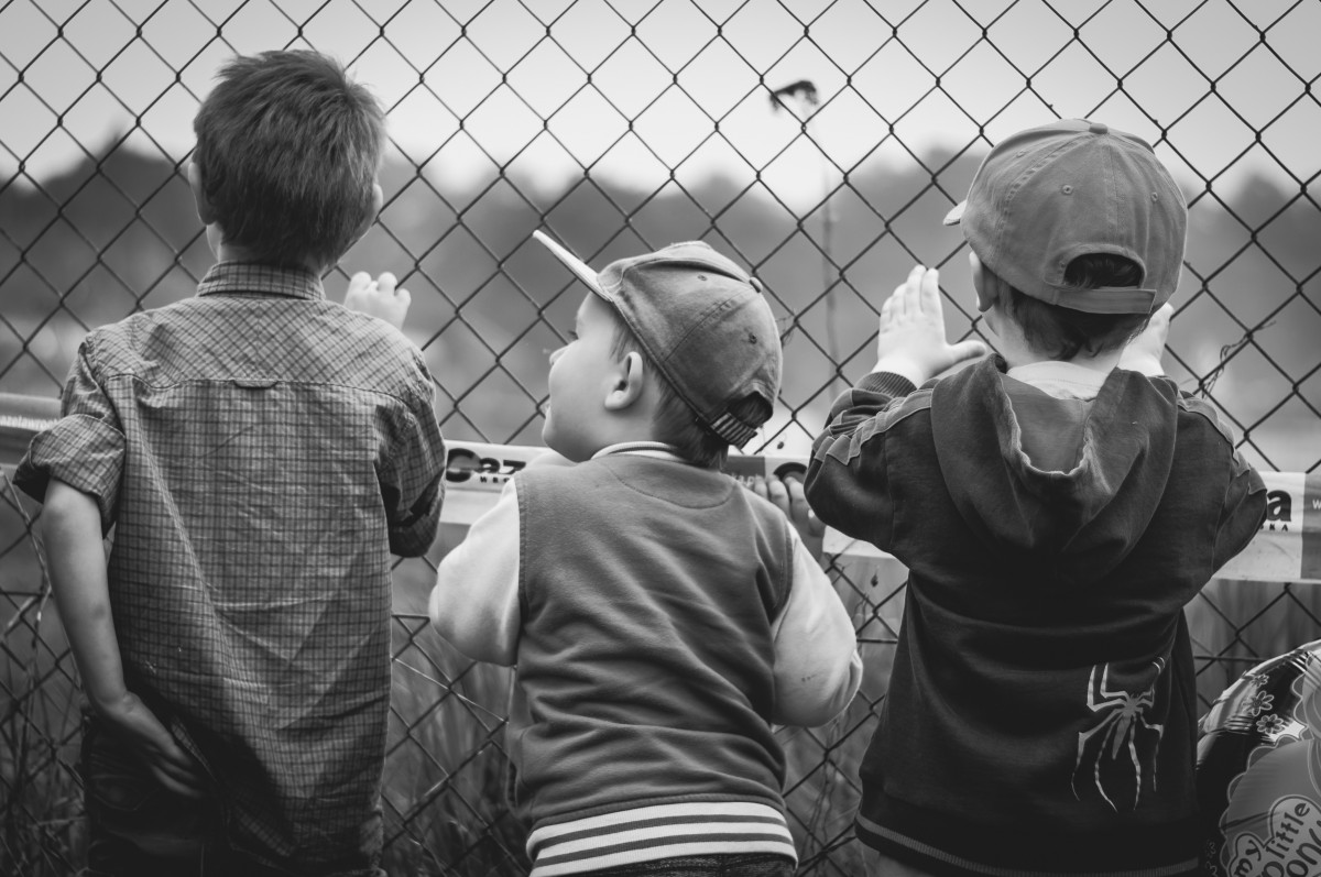 Boys Peek Through Fence | AYZ writing